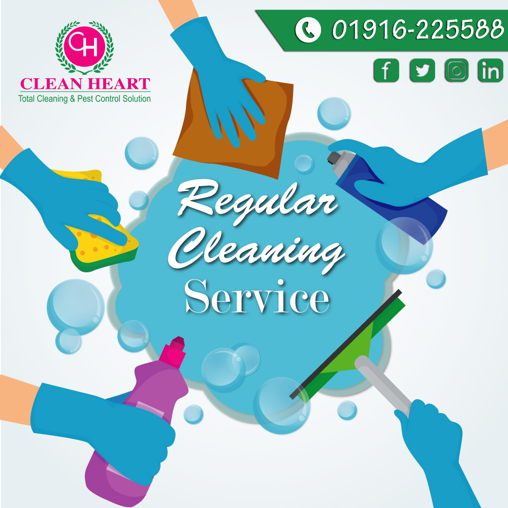 Regular cleaning service