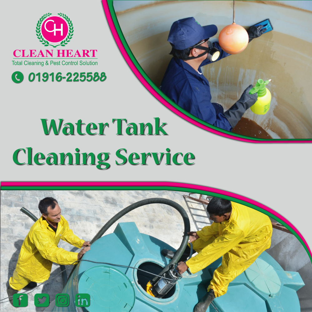 Water tank cleaning service at dhaka