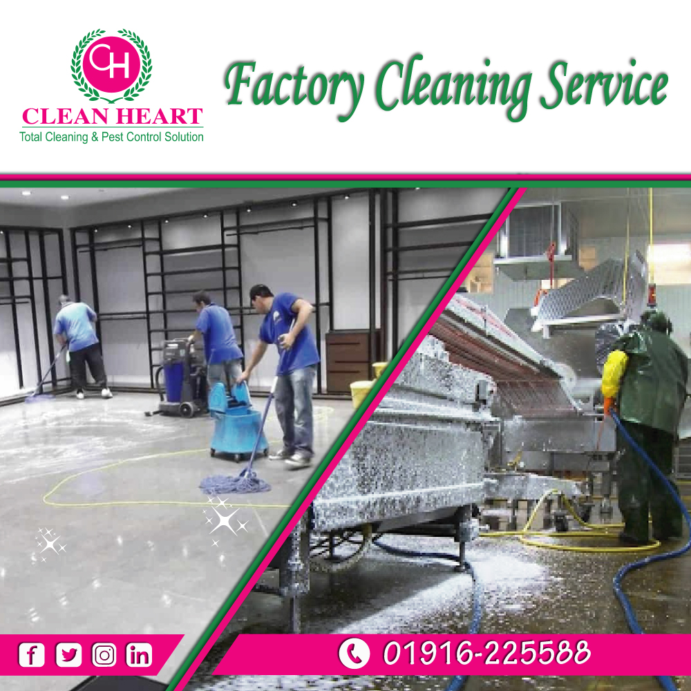 Factory cleaning service at Dhaka